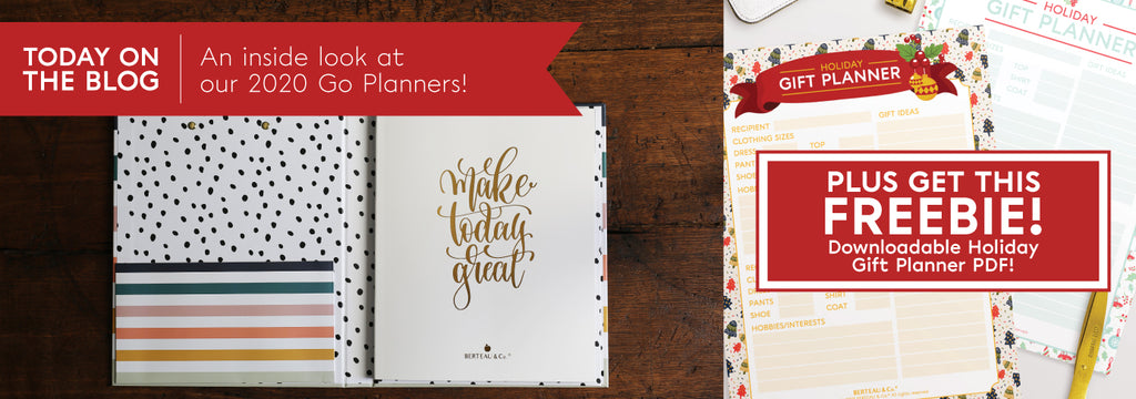 Inside Look at the Berteau and Co Go Daily Planners