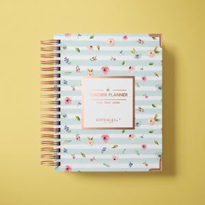 2020 - 2021 Watercolor Floral Undated Teacher Planner
