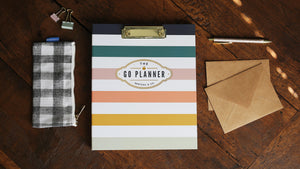 Back Cover of Berteau and Co. 2020 Berteau Stripe Go Daily Planner