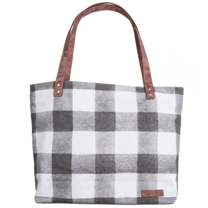 Large Tote Bag - Buffalo Check
