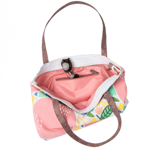 Large Tote Bag - Pink Apple