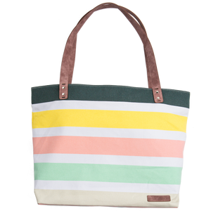 Large Tote Bag - BERTEAU Stripe