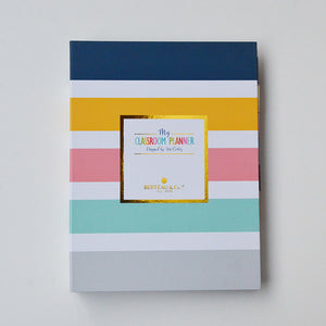 BERTEAU Stripe Binder Teacher Planner