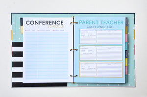SCRATCH & SCUFF SALE - BERTEAU Stripe Binder Teacher Planner