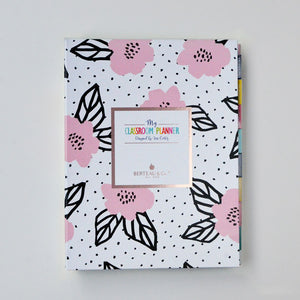 "Rose Gold Floral 9"" x 12"" Teacher Binder Planner"