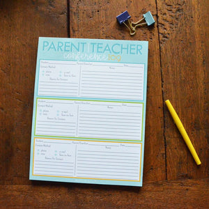 Parent / Teacher Conference Log Notepad