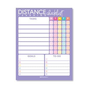 Notepad - Distance Learning Checklist