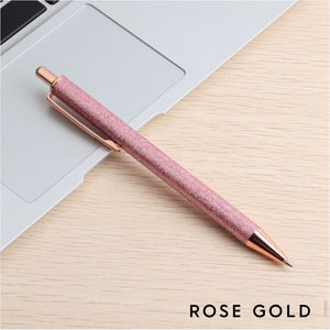 Rose Gold Glitter Pen