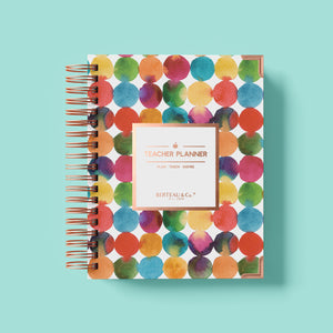 2020 - 2021 Happy Thoughts and Dots Undated Teacher Planner