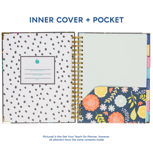 2019-2020 Berteau and Co Floral My Classroom Planner for Teachers
