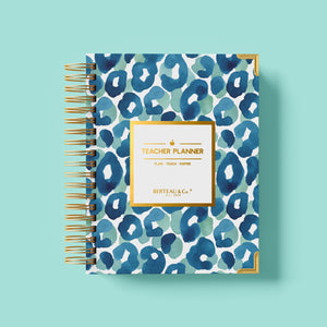 2020 - 2021 Watercolor Leopard Undated Teacher Planner