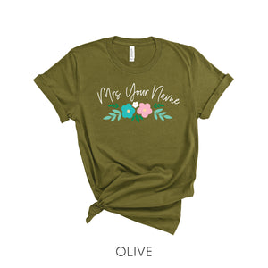 Personalized Floral Name T-Shirt
