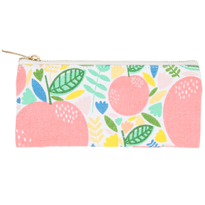 Pink Apple Pencil Pouch Exterior