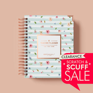 Scratch and Scuff - Watercolor Floral Undated Teacher Planner