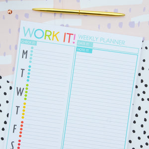 Notepad - Work It! (Weekly Notepad)