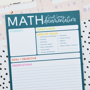 Math - Small Group Documentation Notepad
