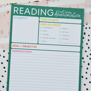 Reading - Small Group Documentation Notepad