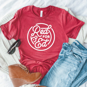 Red For Ed shirt | BERTEAU & Co.