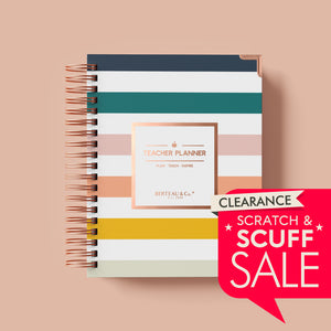 Scratch and Scuff - BERTEAU Stripe Undated Teacher Planner