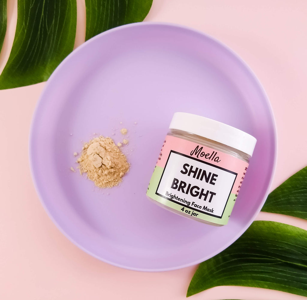 shine bright brightening face mask for acne scars, remove acne scars