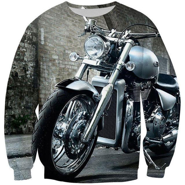 3D Motorcycle Pullover Sweater - Off Tap Gear