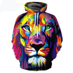 Colourful Lion Hoodie - Off Tap Gear