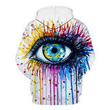 Rainbow eye By Pixie cold art Hoodie-Jumper-Off Tap Gear
