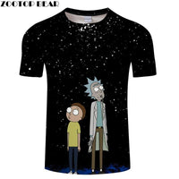 Rick And Morty Stars T-Shirt-T-Shirt-Off Tap Gear