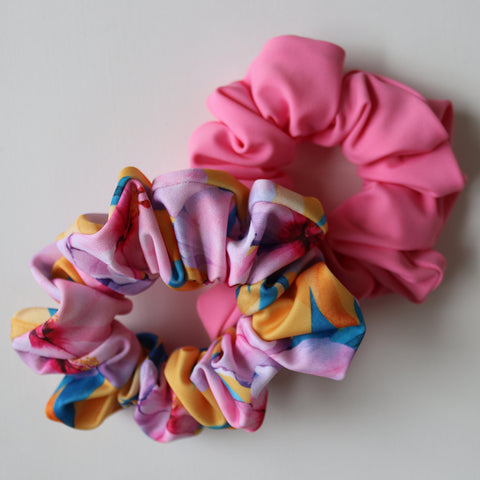 SCRUNCHIE 2 PACK - Hibiscus & Watermelon