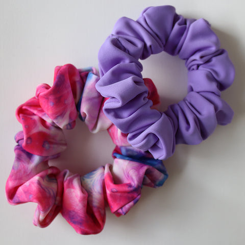 SCRUNCHIE 2 PACK - Peacock & Lilac