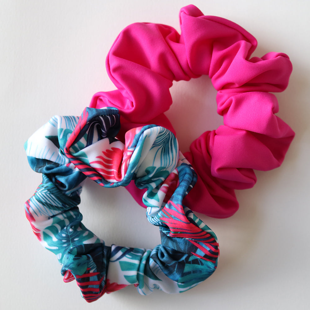 SCRUNCHIE 2 PACK - Tropics & Hot Pink