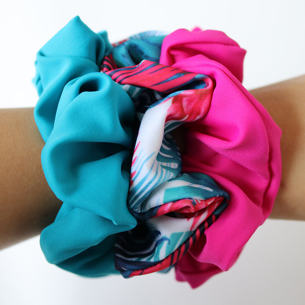 SCRUNCHIE TROPICS - 3 PACK