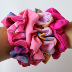 SCRUNCHIE PRETTY PINKS - 4 PACK