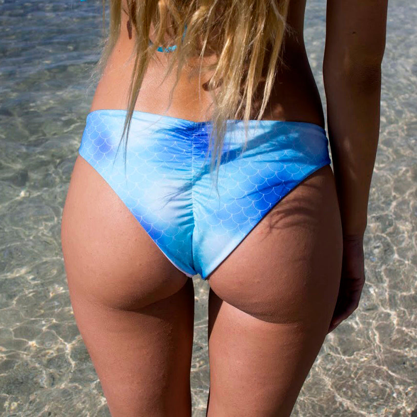 SCRUNCH BOTTOM - Mermaid / White