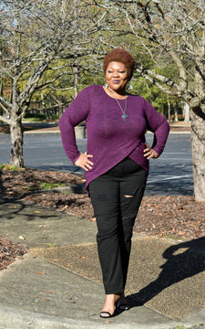 Long sleeve Tunic Top Plus Size