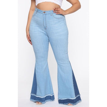 High Rise Stretch Flare Jeans