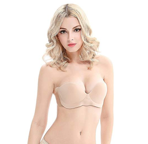 Backless Breast Shaping Pushup Bra - Just Press The Button