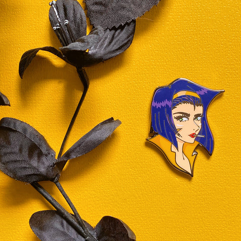 Bounty Hunting Vixen Enamel Pin