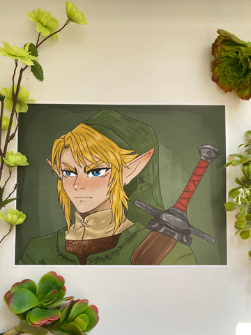 Triforce Hero Print