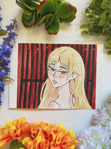 Shinobu Oshino Watercolor Drawing
