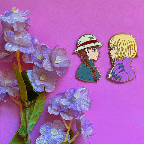 Hatmaker and Wizard Ver. 1 Enamel Pins