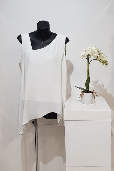 Ping Pong Asymmetrical Sleeveless Top