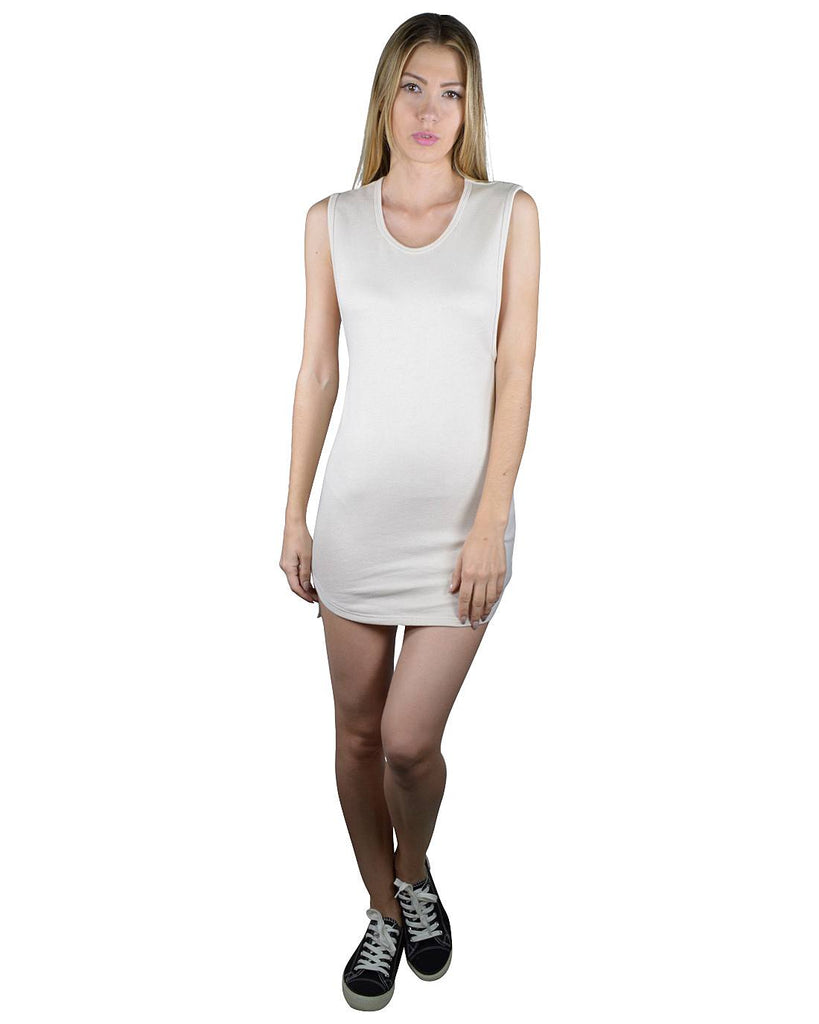 Solid High Low Hem Bodycon Dress - Local Tres