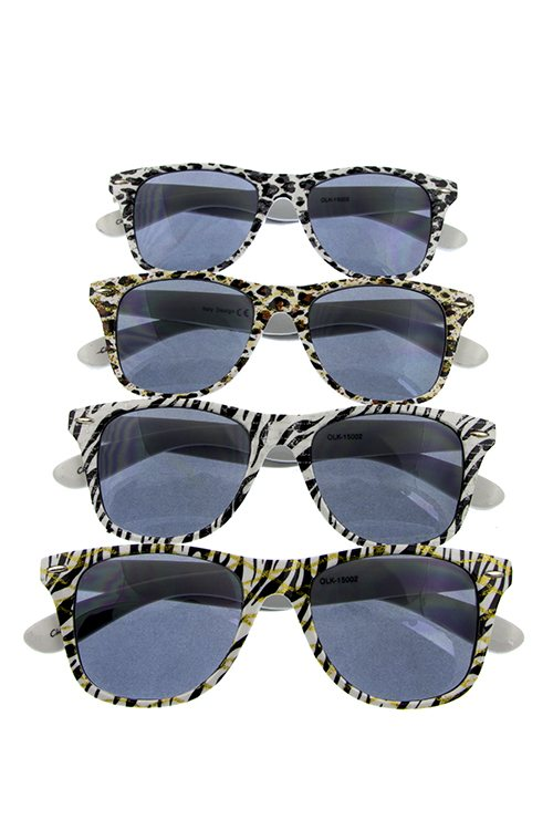 Womens plastic animal classic fashion sunglasses - Local Tres