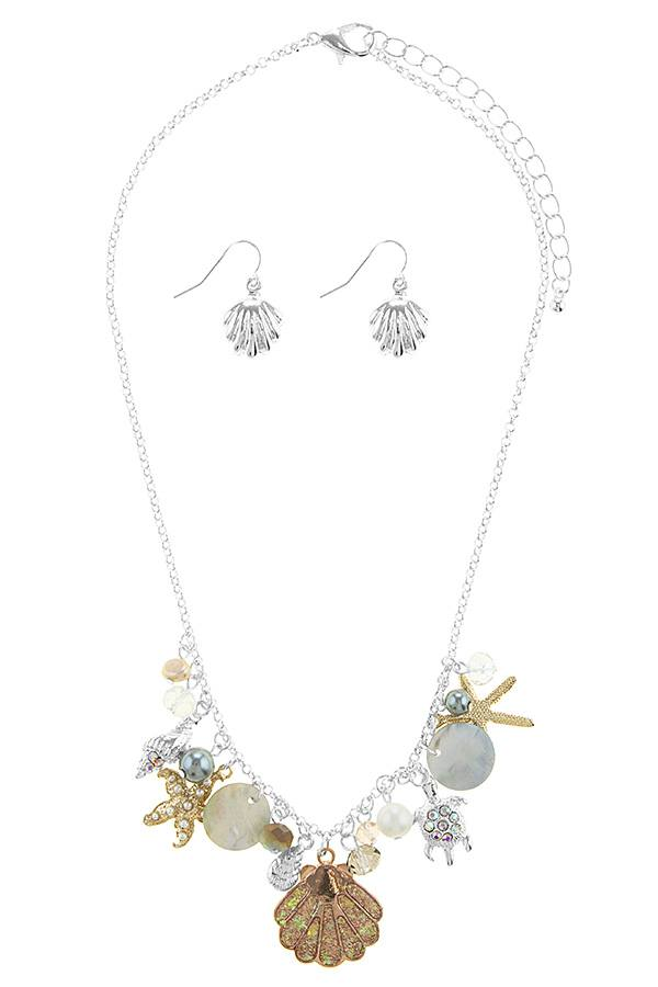 Oversize starfish station necklace set - Local Tres