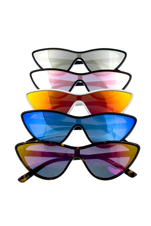 Ladies futuristic retro cat eye sunglasses - Local Tres