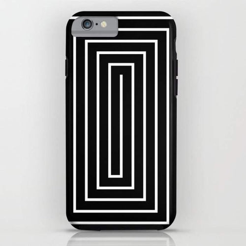 Black & White Spiral Mobile Cover - Local Tres