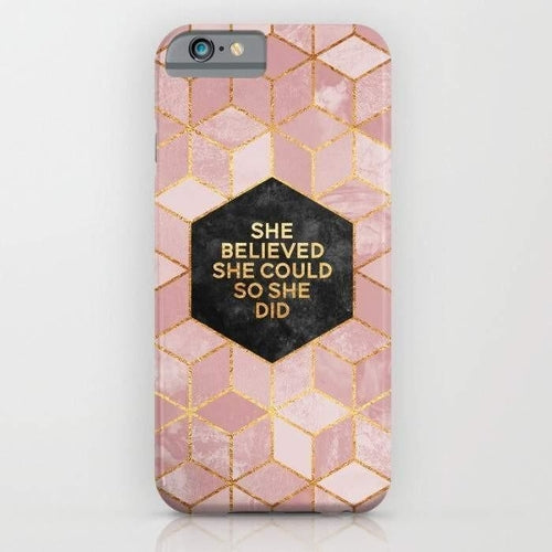 She Believed She Could So She Did Mobile Cover - Local Tres