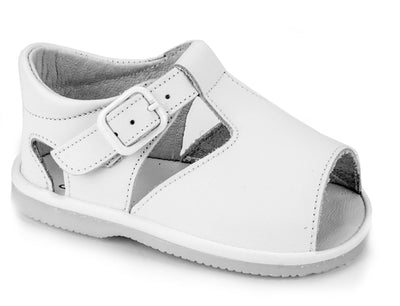 Casual Sandals White for Boys and Girls Leather