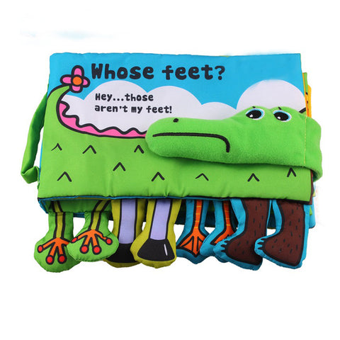 Soft Fabric Feet Crocodile Toys